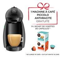 Nescafé 9 boîtes de capsules Dolce Gusto avec machine à espresso Krups Piccolo KP100B anthracite gratuite-commercieel beeld