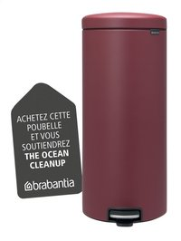 Brabantia Poubelle à pédale newIcon mineral windsor red 30 l-Détail de l'article