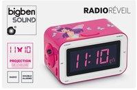 Bigben radio-réveil RR30 rose motif fée