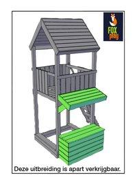 Fox play schommel met speeltoren Sacramento met groene glijbaan-Artikeldetail