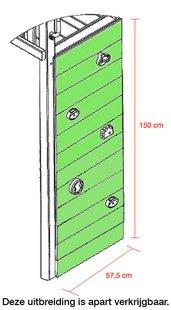 BnB Wood schommel Perk met blauwe glijbaan-Artikeldetail