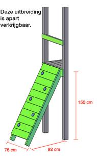 BnB Wood schommel Nieuwpoort Shop met blauwe glijbaan-Artikeldetail