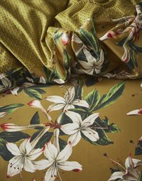 Essenza Dekbedovertrek Verano ochre katoensatijn 140 x 220 cm-Artikeldetail