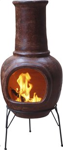 Mexicaanse chimenea medium roodbruin