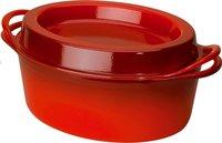 Le Creuset cocotte ovale Doufeu rouge cerise 30 cm - 5,7 l