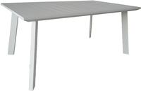 Table de jardin Nice blanc 165 x 100 cm