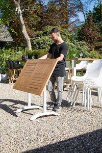 Hartman table de jardin Bistro blanc L 110 x Lg 70 cm-Image 3