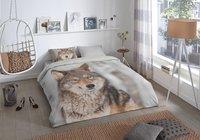 Good Morning Housse de couette Wolf coton