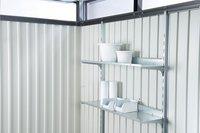 Biohort abri de jardin avec porte simple Higline gris argenté 235 x 275 cm-Image 2