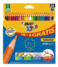 Bic Kids crayon de couleur Evolution - 24 pièces-Avant