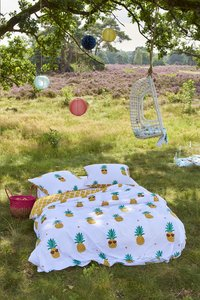 Covers & Co Dekbedovertrek Pineapple katoen 140 x 220 cm-Afbeelding 1