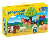 PLAYMOBIL 1.2.3 6620 Enfants avec charrette et animaux-Côté gauche