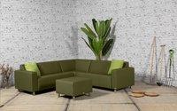 Triniti Loungeset Tom hoekmodel inclusief voetenbank mosgroen-Afbeelding 1