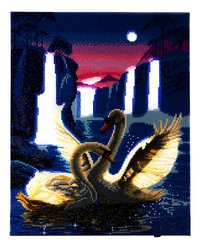 Craft Buddy Crystal Art kit Moonlight Swans-Artikeldetail