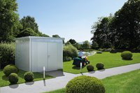 Biohort abri de jardin avec porte double Higline gris argenté 155 x 275 cm-Image 4