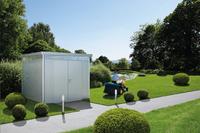 Biohort tuinhuis met dubbele deur Highline zilvergrijs 315 x 275 cm-Afbeelding 4