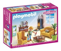Playmobil Dollhouse 5308 Woonkamer met houtkachel-Vooraanzicht