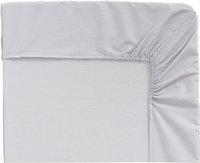 Origin drap-housse Ecorce gris clair en bambou 140 x 200 cm