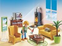 PLAYMOBIL Dollhouse 5308 Salon avec poêle à bois-Image 1