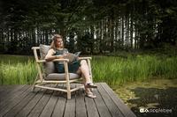 Apple Bee fauteuil de jardin Lounge Rooty-Image 2