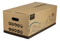 Set de 5 boîtes à service/livres en carton 50 l