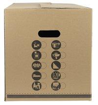 Boîte de déménagement beige 80,5 l - 10 pièces-Côté gauche