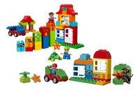 LEGO DUPLO 10580 Deluxe bouwdoos + 10572 Alles in één groene doos-Vooraanzicht