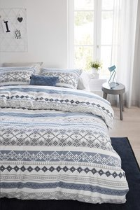 Beddinghouse Housse de couette Vigo blue grey flanelle 200 x 220 cm-commercieel beeld