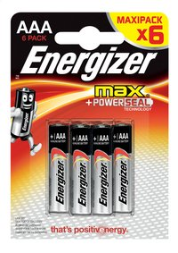 Energizer Max 6 piles AAA