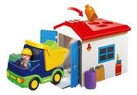 Playmobil 1.2.3 6759 Vrachtwagen met garage-Vooraanzicht