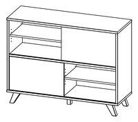 Boekenkast Helsinki eik laag-product 3d drawing