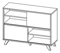 Bibliothèque basse Helsinki chêne-product 3d drawing