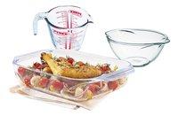 Pyrex Bol mélangeur avec plat à four et verre doseur