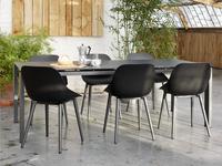 Jati & Kebon Table de jardin Arolla avec verre gris foncé/anthracite L 220 x Lg 100 cm-Image 2