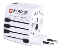 Skross adaptateur secteur universel World Travel avec chargeur USB