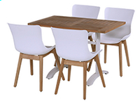 Hartman table de jardin Bistro blanc L 110 x Lg 70 cm-Image 1