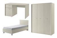 3-delige kamer Robin bed - bureau - 3-deurskast