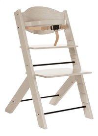 La chaise haute Treppy grise grandit avec votre enfant : l'assise et la tablette sont réglables, pour toujours être à la bonne hauteur. Même ado ou adulte, votre enfant pourra utiliser la chaise Treppy!