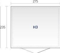 Biohort abri de jardin avec porte simple Higline gris argenté 235 x 275 cm-Détail de l'article