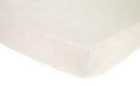 Origin Drap-housse Ecorce crème en bambou 180 x 200 cm