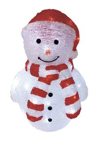 Sneeuwman met ledverlichting en rode muts