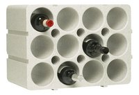 Casier à vin empilable pour 12 bouteilles long-Avant