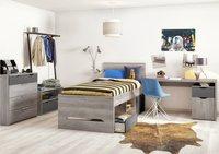 3-delige kamer Tempo met bed + bureau + 3d kast-commercieel beeld