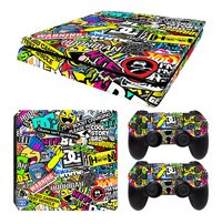PS4 Slim console skins + 2 controllers skins Hoonigan