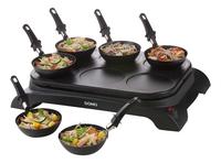 Domo Gourmetset wok en pannenkoeken DO8710W-commercieel beeld