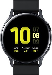 Samsung montre connectée Galaxy Watch Active 2 40 mm Aluminium Aqua Black-Avant