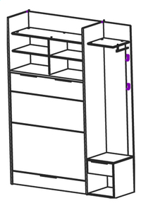Armoire/Lit Twice-product 3d drawing