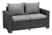 Allibert Canapé 2 places California graphite cool grey