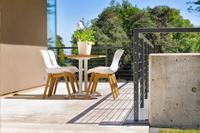 Hartman table de jardin Bistro blanc L 110 x Lg 70 cm-Image 2