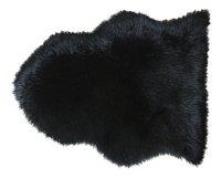 Van der Leeden Peau de mouton noir fausse fourrure Lg 65 x L 90 cm